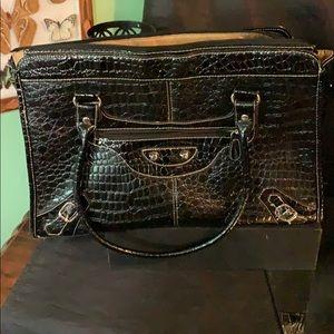 Merona large black shoulder Bag